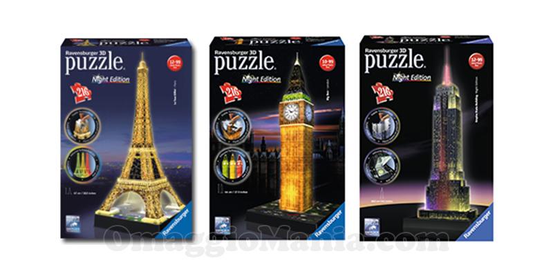 vinci puzzle Ravensburger 3D Night Edition