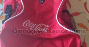 zaino Coca Cola vinto e ricevuto da Elena
