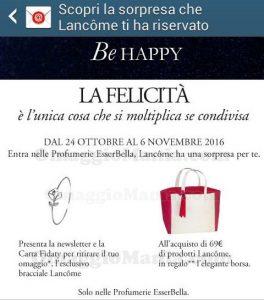 Bracciale Lancôme omaggio email Esserbella Profumerie