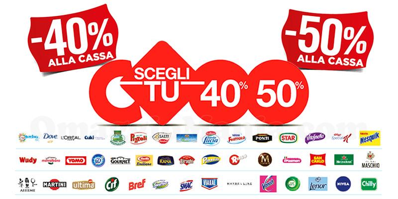 uk availability 4e556 9d094 Coop Scegli Tu: sconti 40% e 50% su grandi marche - OmaggioMania