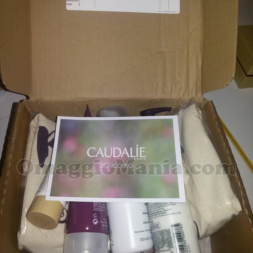 Kit di prodotti Caudalie e borsa di Antonella