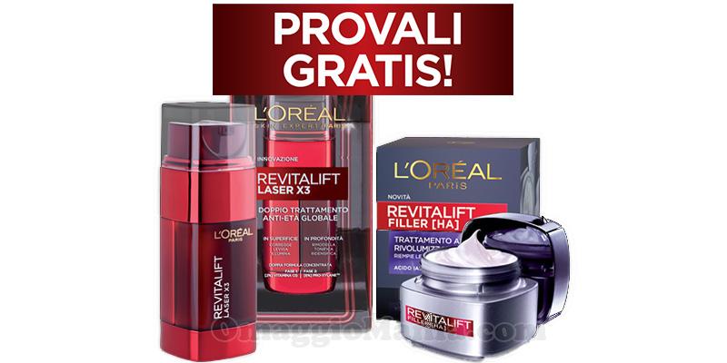 Provali Gratis L'Oréal Revitalift Laser e Filler