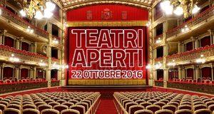 Teatri aperti 22 ottobre 2016