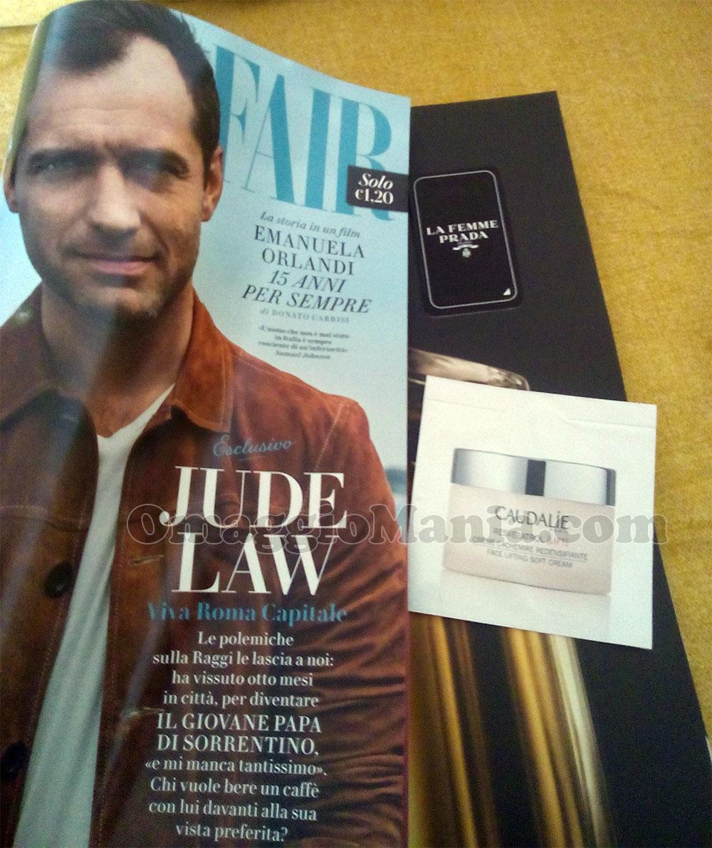 Vanity Fair 40 con campioni omaggio Caudalie e Prada