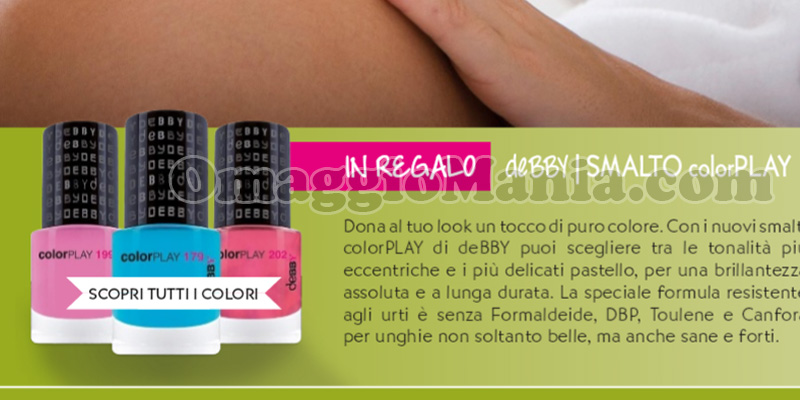anticipazione smalto deBBY colorPlay con Starbene