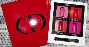 bubble card campioni omaggio rossetti Dior Rouge di Elena