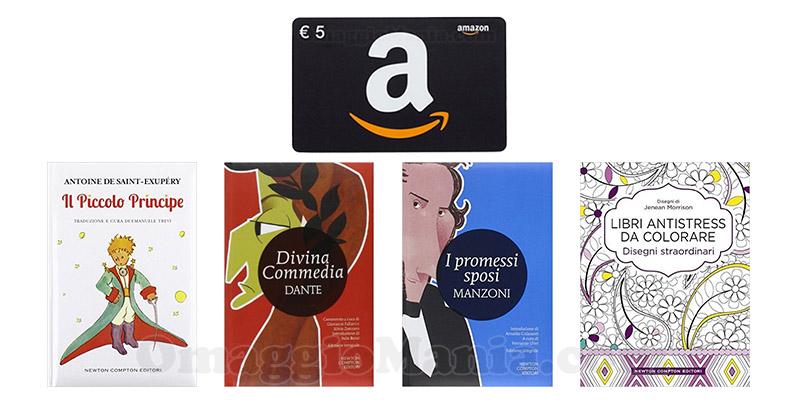 buono Amazon omaggio con Newton Compton