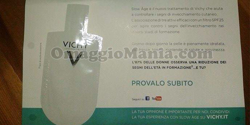 campione omaggio Vichy Slow Age di Ivana