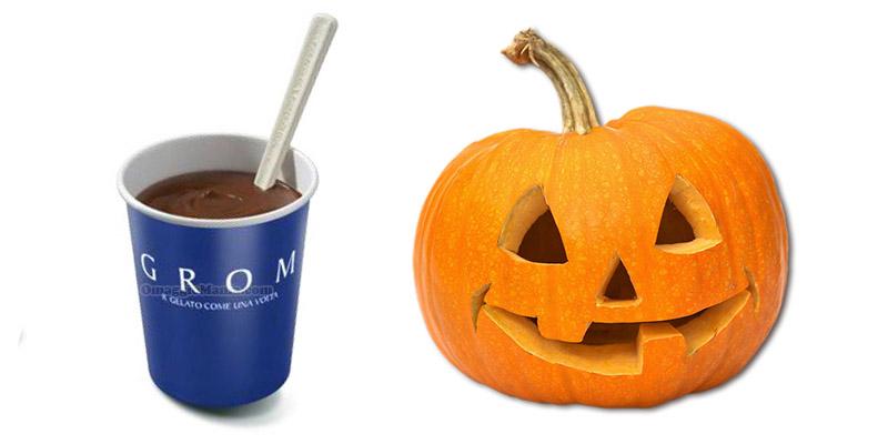 cioccolata calda Grom in regalo a Halloween