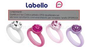 codice univoco anello OPS con labello