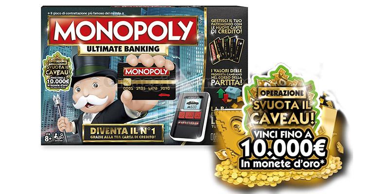 concorso Hasbro Monopoly Svuota il Caveau