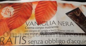 crema corpo Vaniglia Nera gratis da Bottega Verde