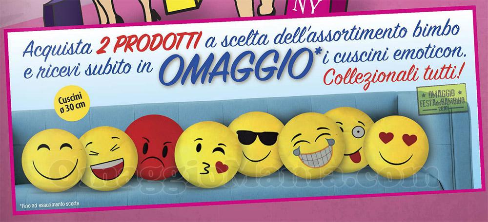 cuscini emoticon La Saponeria omaggio