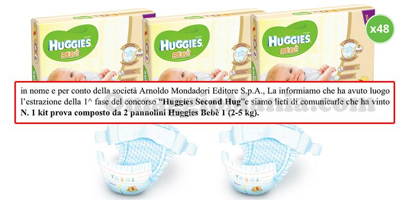 estrazione vincitori Huggies Second Hug