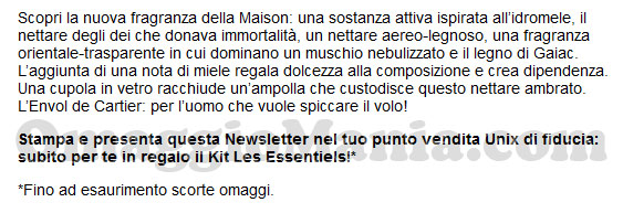 kit les essential Cartier omaggio email
