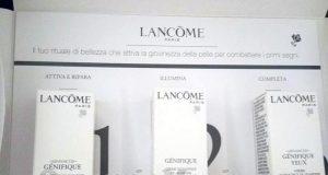 kit omaggio rituale di bellezza Lancome Genifique