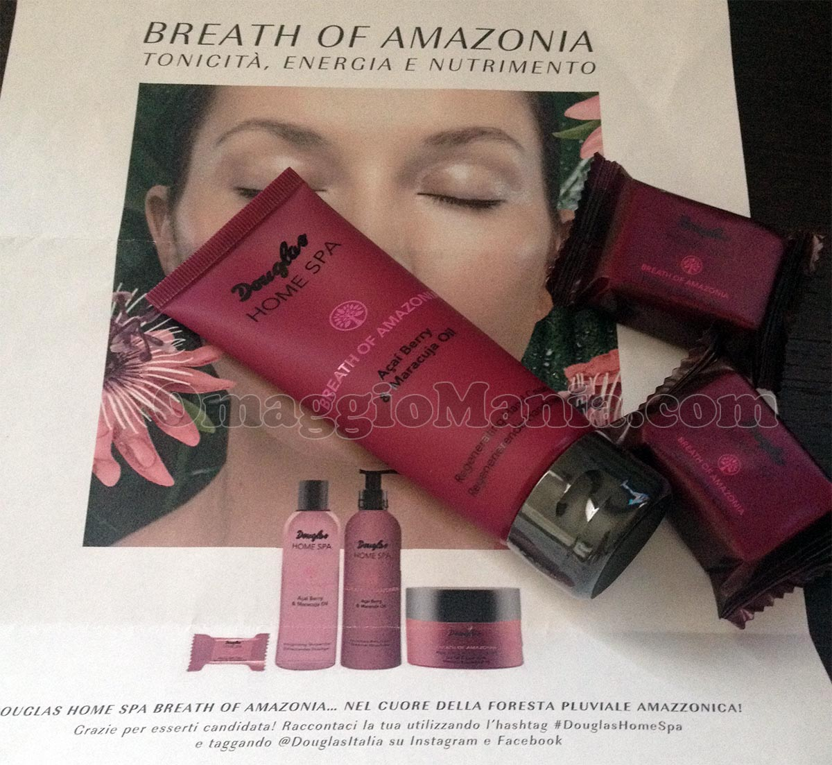 kit prodotti Douglas Breath of Amazonia di Giulia