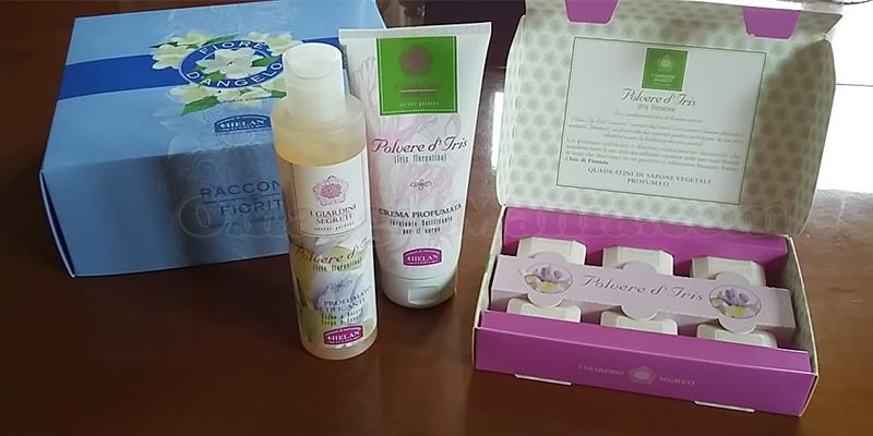 kit di prodotti Helan Polvere d'Iris di Valentina