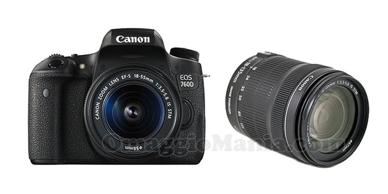 macchina fotografica e obiettivo Canon