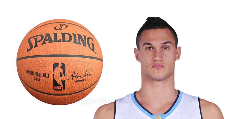 pallone NBA autografato da Danilo Gallinari