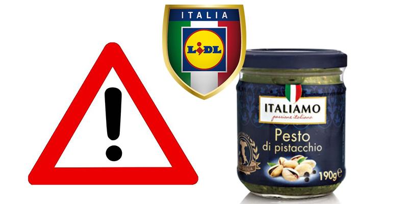 richiamo Lidl Pesto di pistacchio Italiamo