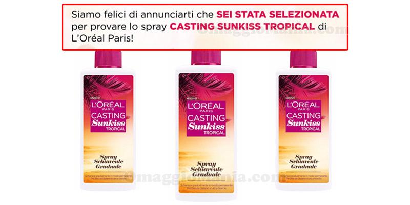 selezione test L'Oréal Casting Sunkiss Tropical