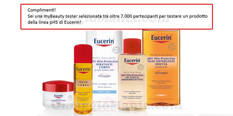 selezione tester Eucerin pH5