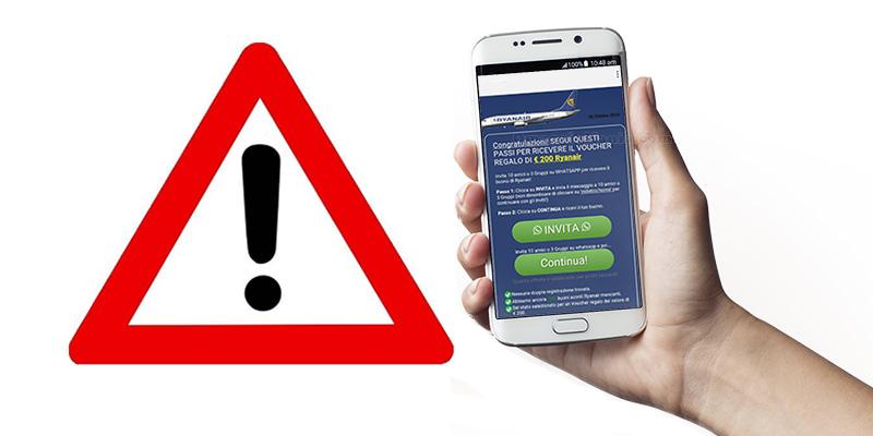 truffa Ryanair Whatsapp