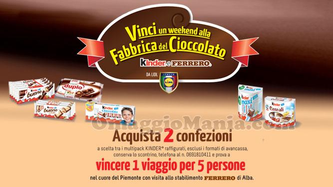 vinci weekend alla Fabbrica del Cioccolato Kinder Ferrero 2016