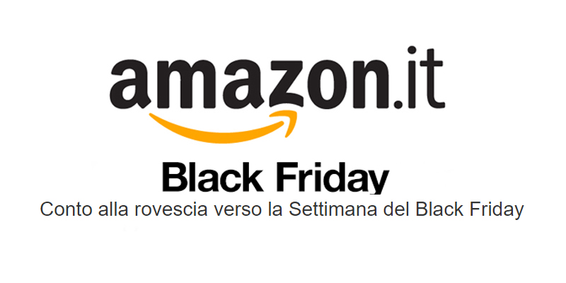 Amazon Black Friday 2016 conto alla rovescia