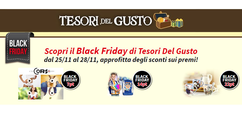 Black Friday Tesori del Gusto 2016