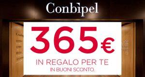 Conbipel 365 euro in buoni sconto