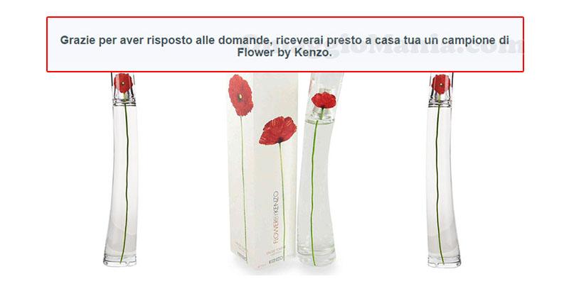 Flower by Kenzo campione omaggio con questionario