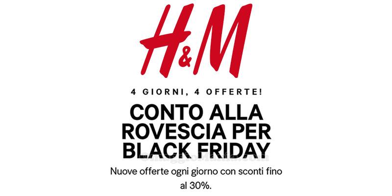 H&M conto alla rovescia per il Black Friday 2016