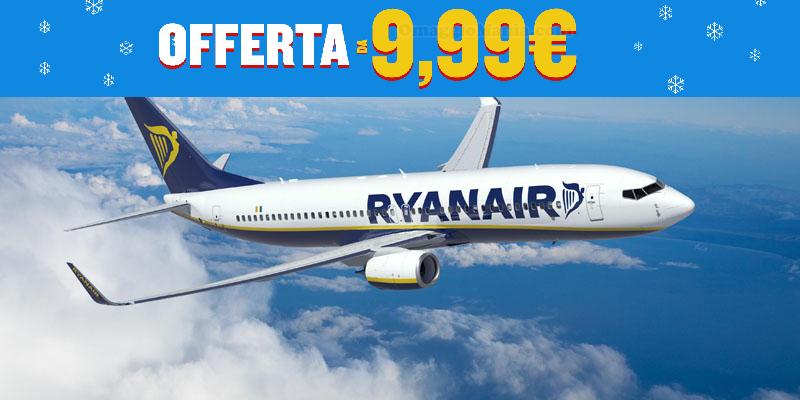 Ryanair 250.000 posti 9,99€