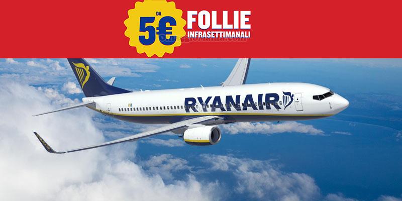 Ryanair biglietti da 5 euro