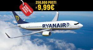 Ryanair offerte speciali Cyber Week
