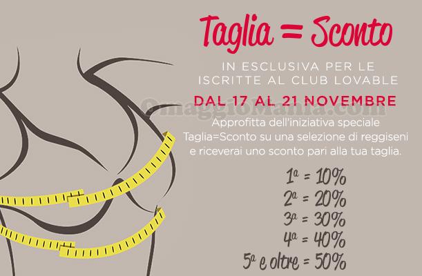 Taglia Sconto Lovable novembre 2016