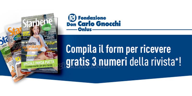 abbonamento Starbene omaggio con Fondazione Don Gnocchi