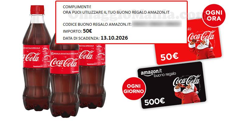 buoni Amazon concorso di Natale Coca Cola in arrivo