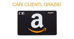 buono sconto Amazon 10€ GRAZIE1000