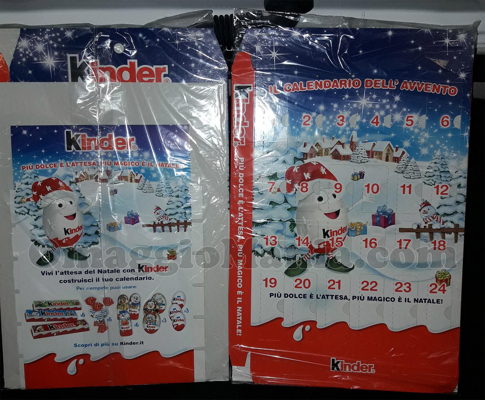Calendari dell'Avvento Kinder in omaggio - OmaggioMania