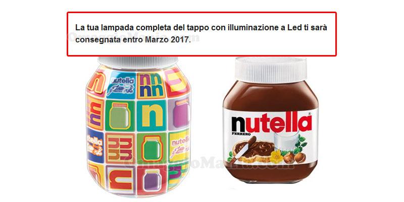 lampada Nutella spedizione entro marzo 2017