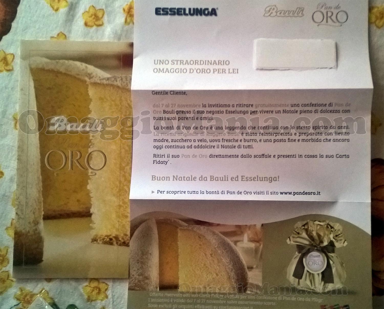 lettera Pan de Oro Bauli omaggio di Valeria