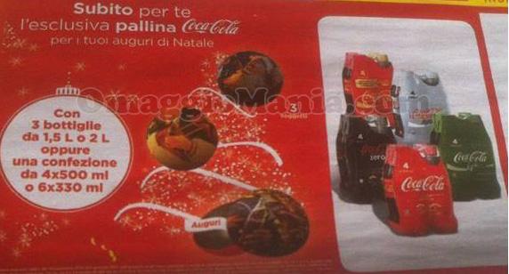 palline Natale Coca Cola omaggio