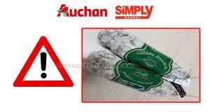 ritiro salame boscaiolo Auchan e Simply