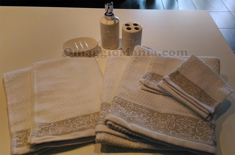 set accessori bagno e spugne Visita Premiata Bottega Verde di Isabella