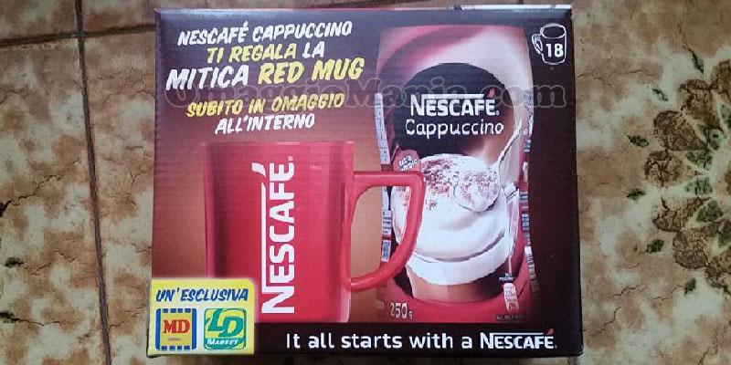tazza Red Mug omaggio Nescafé Cappuccino