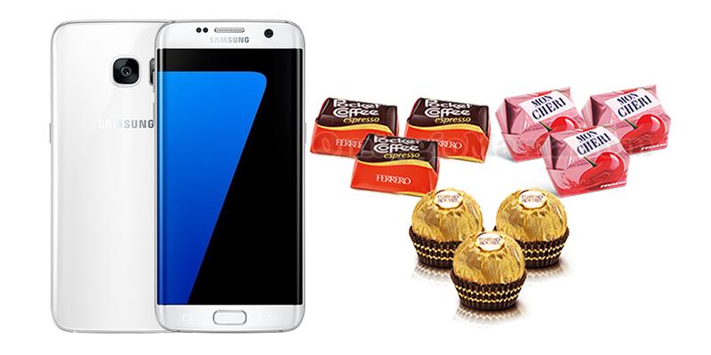 vinci Samsung Galaxy S7 con le Specialità Ferrero