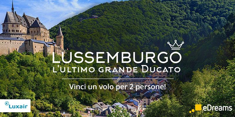 vinci volo 2 persone Lussemburgo